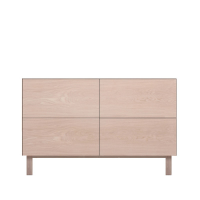 Rectangular Cabinet 4 Drawers Oak, Oak