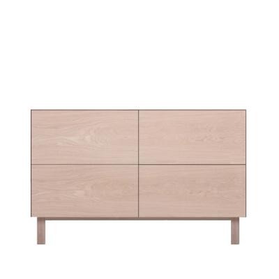 Rectangular Cabinet 4 Drawers Oak, Oak
