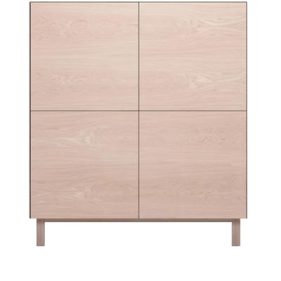 Square Cabinet 4 Doors Oak, Oak