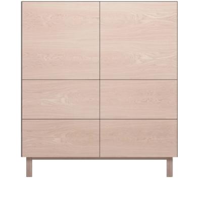 Square Cabinet 2 Doors & 4 Drawers Oak, Oak