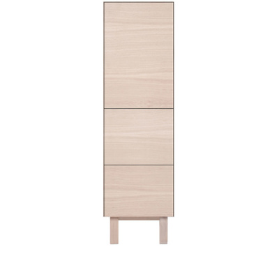 Tallboy 1 Door & 2 Drawers Oak, Oak