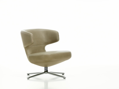 Petit Repos Leather Natural, soft light powder-coated, felt glides for hard floor