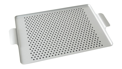 Pressed Rubber Grip Tray Silver, Small