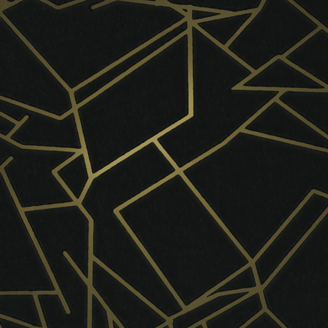 angles wallpaper black and gold by erica wakerly